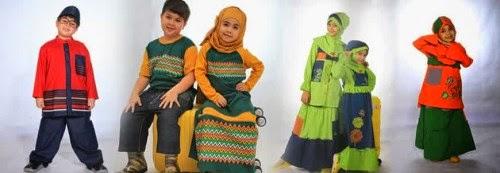 Baju muslim Anak perempuan dan laki-laki dannis Terbaru