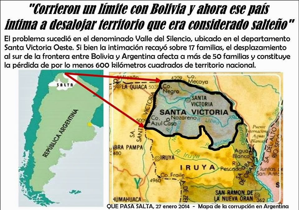 b931980f0 Autoridades de Tarija habrían intimado a los habitantes a desalojar un  territorio que era considerado argentino. En noviembre del 2013 se firmó el  traslado ...
