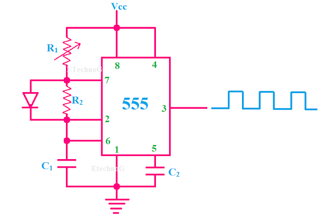 generation of PWM Signal using IC 555