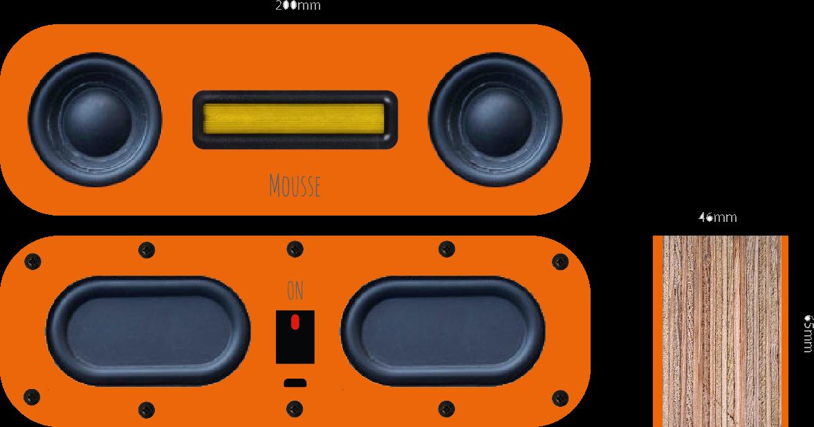 Mousse Audio: My entry level 2 x 5W 4 ohms Bluetooth speaker, Basic