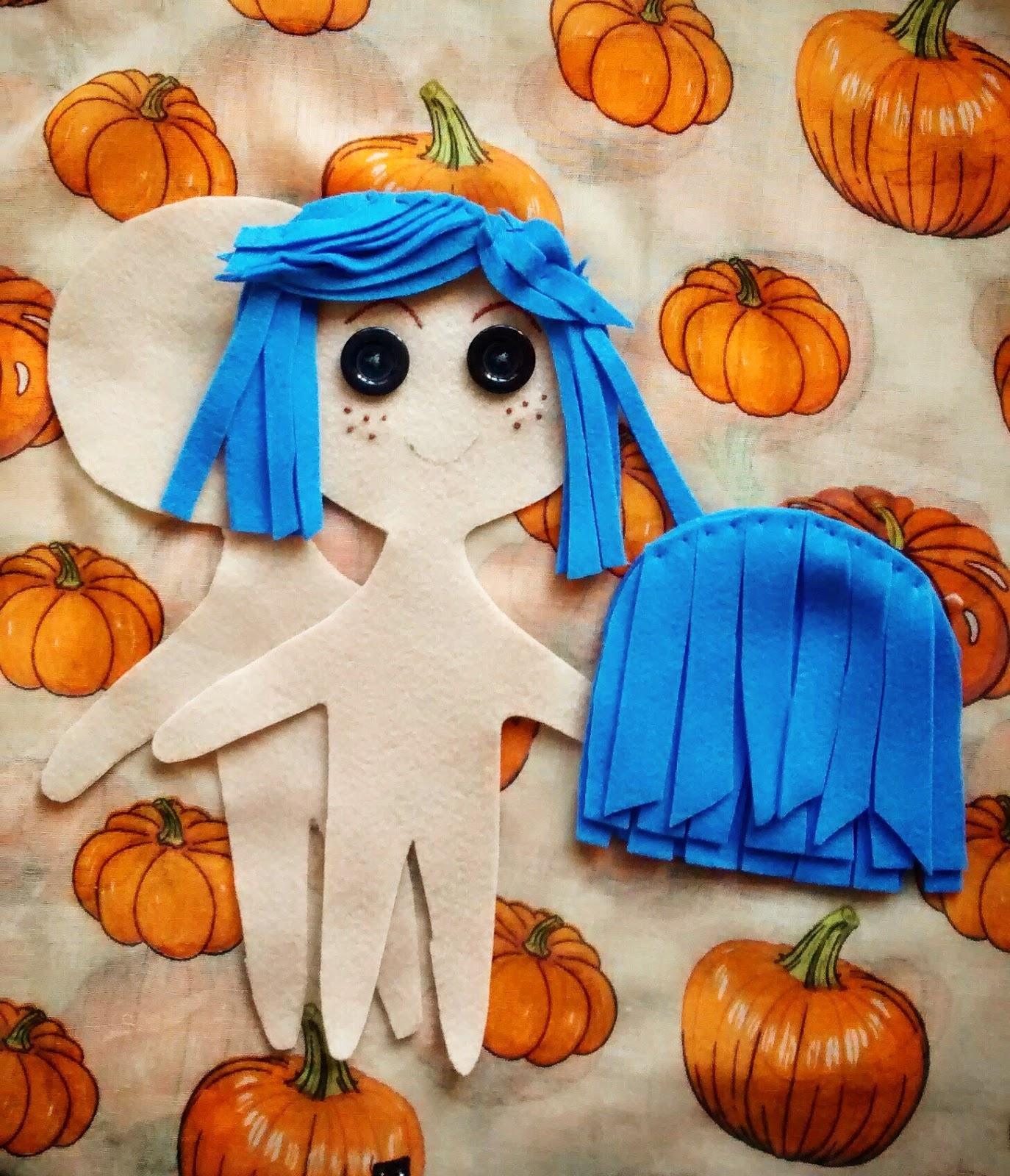 Megans Mega Blog Craft Project Idea Coraline Doll