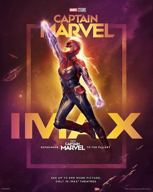 Pôster IMAX Capitã Marvel 2019