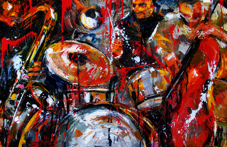Contemporary Artists of Texas: Jazz art painting abstract ...
