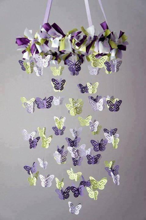 Aprende como hacer un m vil de mariposas for Decoracion del hogar facil y economico