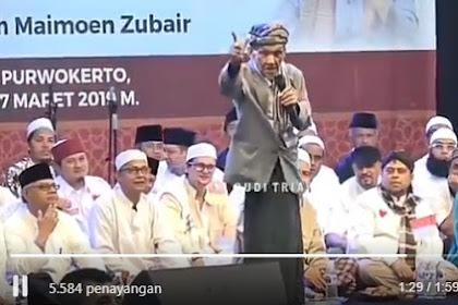 """Kyai Ridwan Sururi Purwokerto: """"Ngaji Nomer Siji.. Masalah Presiden Nomer Loro!"""""""
