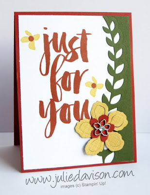 Stampin' Up! Botanicals For You Sale-a-Bration Card #saleabration #sab Occasions Catalog 2016 #stampinup www.juliedavison.com