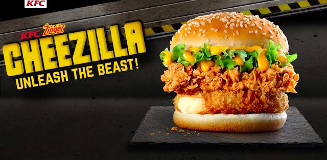 Harga Zinger Cheezilla Burger KFC