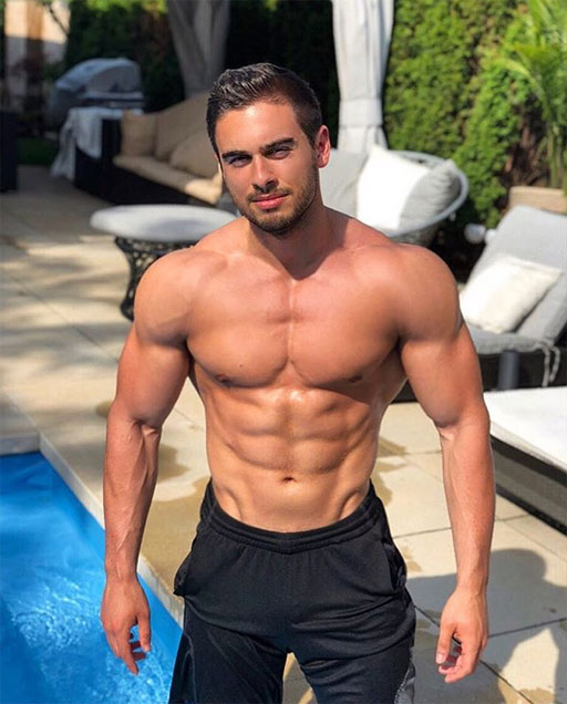 This hottie medical student, Marco, is outdoors enjoying the weather in Canada.
