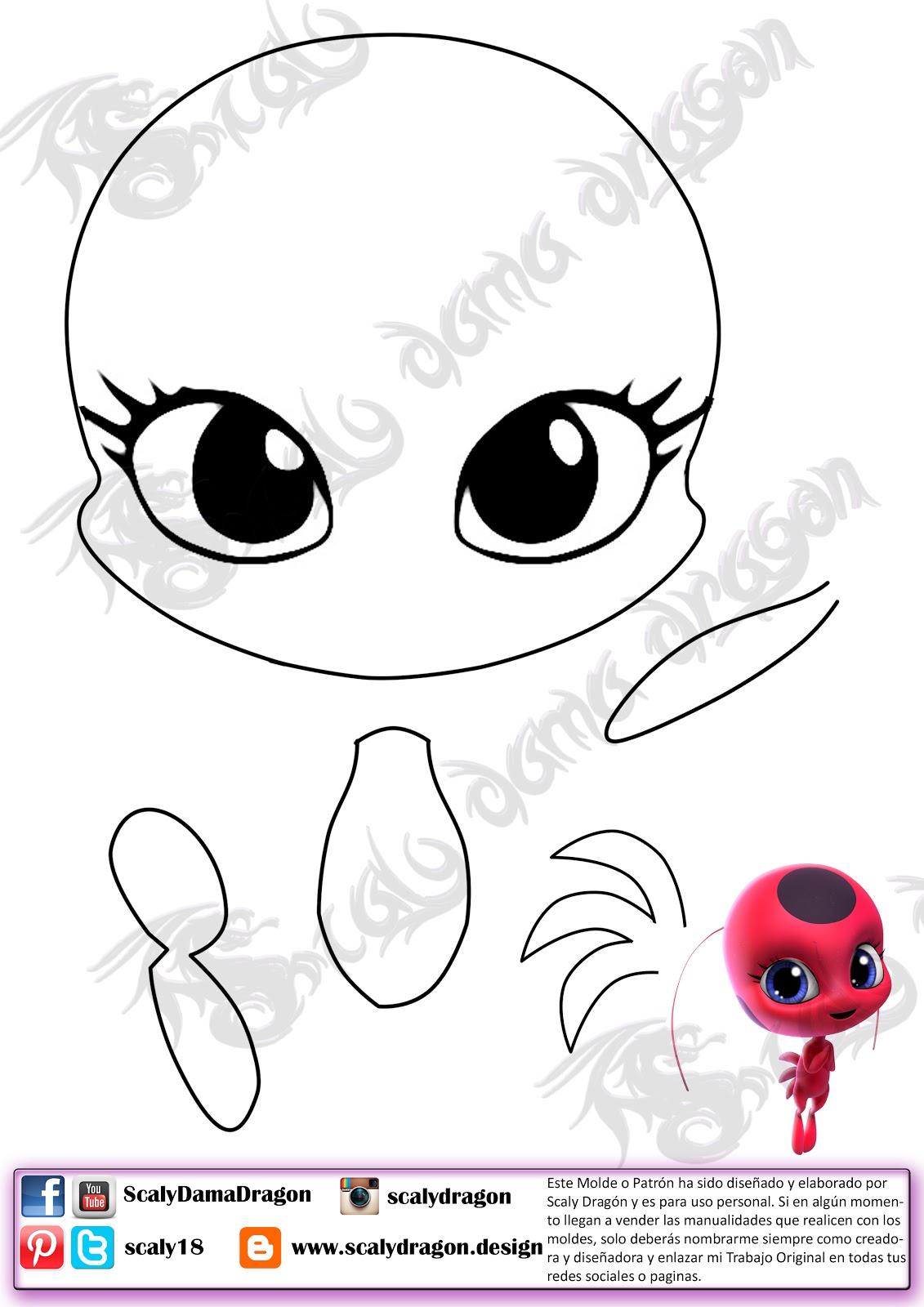 Figura de Tikki la kwami | Mariquita Miraculous de Ladybug en Foamy ...