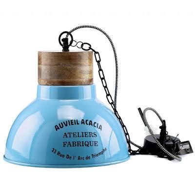 Niebieska lampa sufitowa Aluro Lamali