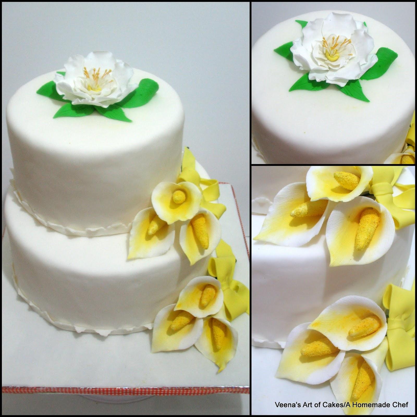 Calla Lily Wedding Cake Veena Azmanov - Calla Lilly Wedding Cake