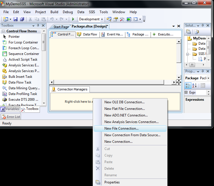 Exact Help: Setting the File System Task properties