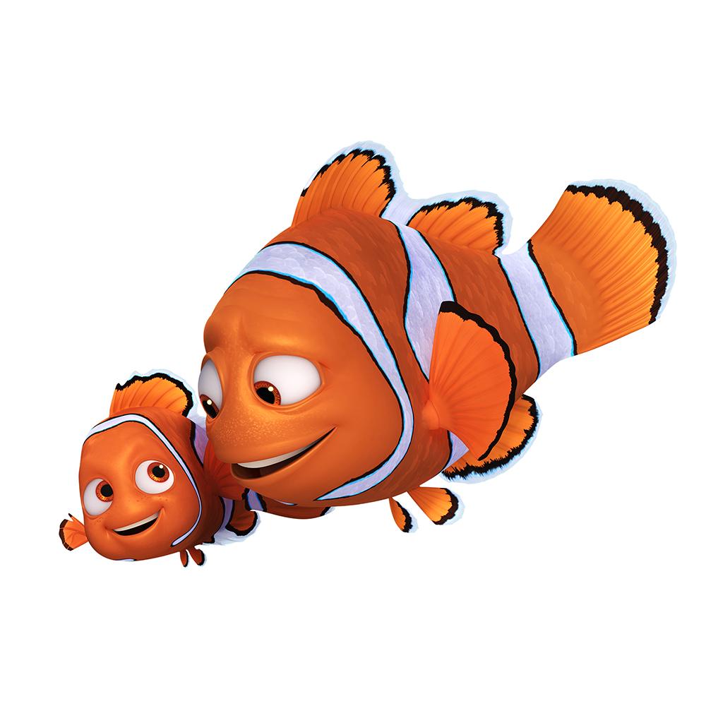 Marlin y Nemo (voces originales en inglés: Albert Brooks y Hayden Rolence)