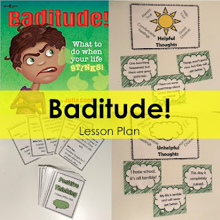 Bad attitude lesson plan. 3rd grad problem solving using positive thinking and the book Baditude.