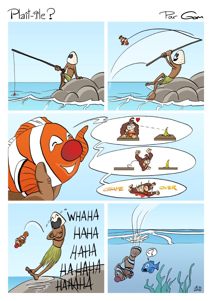 mer et poisson-clown