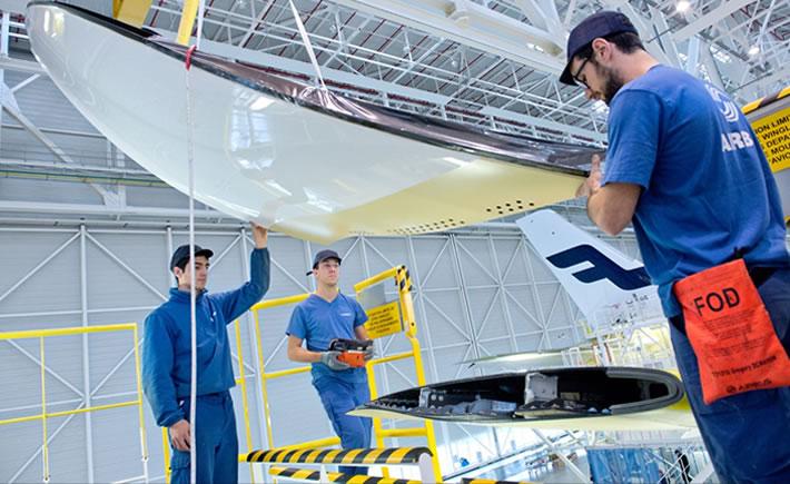 Se requerirá capacitar a 540,000 nuevos técnicos para realizar mantenimiento y reparación de aeronaves en 2035. (Foto: Airbus)