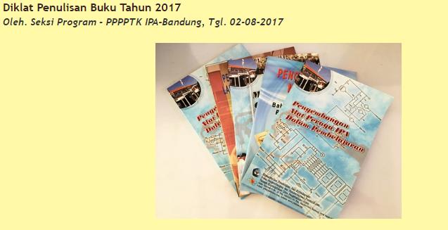 Diklat Penulisan Buku P4TK IPA Tahun 2017