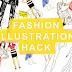 tutorial: printable croquis template dengan Photoshop | fashion illustration hack