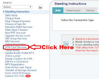 how to block lost sbi atm card online