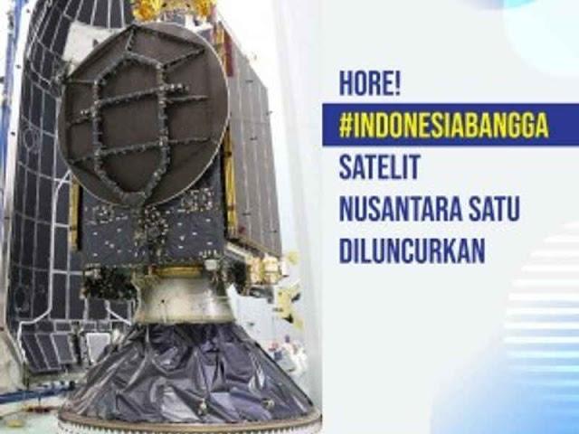 Jokowi Sambut Peluncuran Satelit Nusantara Satu via SpaceX Falcon 9