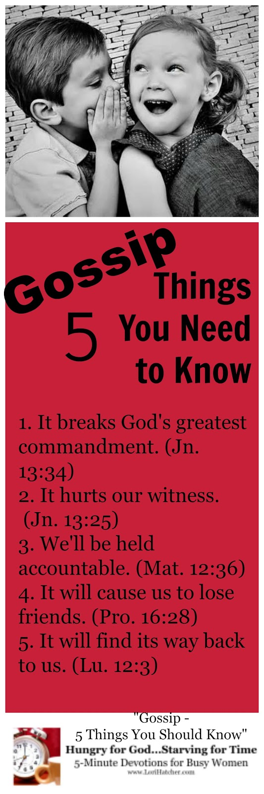 Hungry for God: Gossip - 5 Things You Need to Know