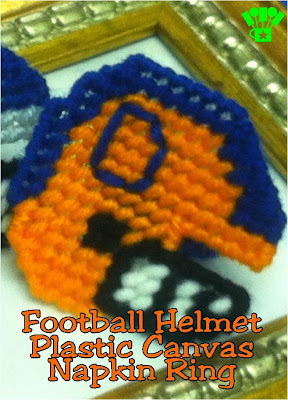 Make these plastic canvas napkin rings for your football party. It's so easy to customize them to be able to root on your favorite team this football season.