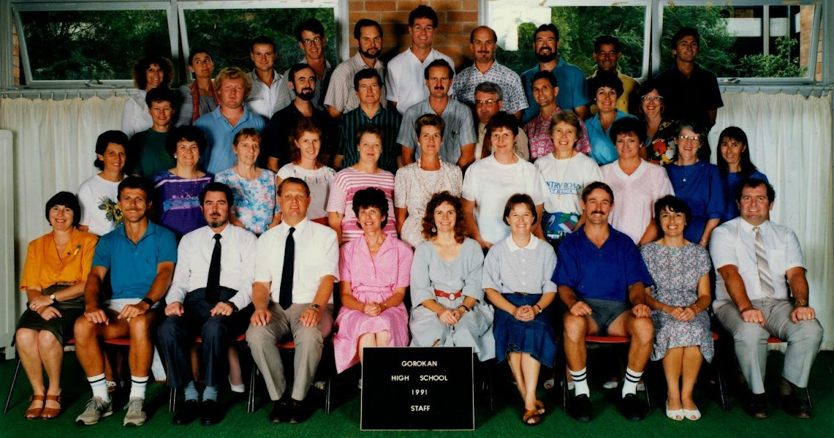 Gorokan High School Staff Photo 1991 Bart B