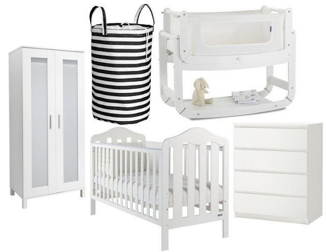 White minimalistic nursery furniture