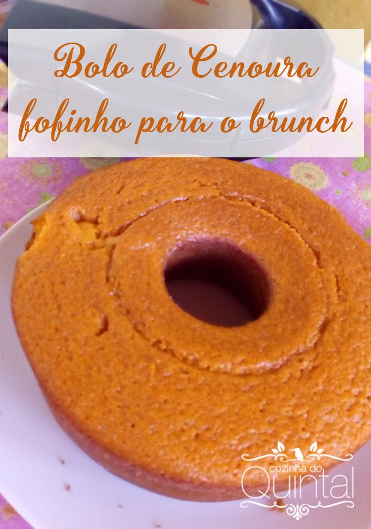 Bolo de Cenoura para o brunch de domingo na Cozinha do Quintal