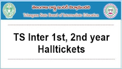 TS Inter 1st, 2nd year Hall Tickets 2021