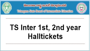 TS Inter 1st, 2nd year Hall Tickets