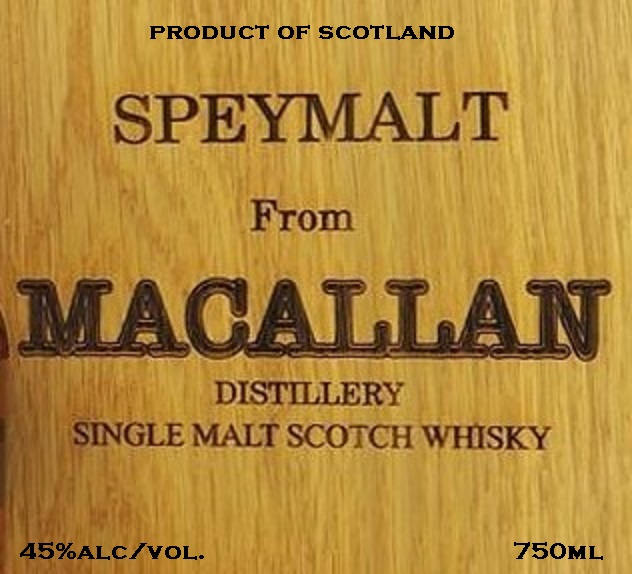 Speymalt From Macallan Distillery Single Malt Scotch Whiskey