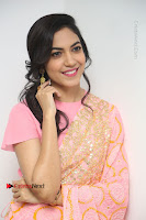 Actress Ritu Varma Pos in Beautiful Pink Anarkali Dress at at Keshava Movie Interview .COM 0357.JPG
