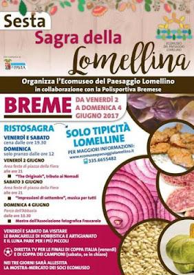 Sagra della Lomellina 2-3-4 giugno Breme (PV)