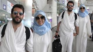 مراد يلدريم يتجه لأداء فريضة الحج بصحبة زوجته المغربية ايمان الباني