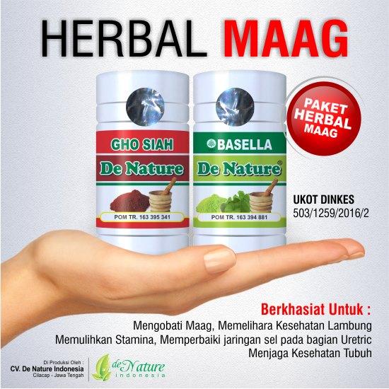 Obat Maag Herbal de Nature | Alami Aman Ampuh