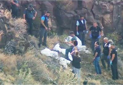 La Guardia Civil desentierra dos personas en zona montañosa de Agüimes, Gran Canaria