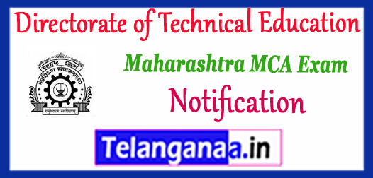 Directorate Of Technical Education Maharashtra MCA 2018-19 Notification