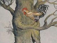 Dongeng fabel Ayam jantan yang cerdik dan Rubah yang licik