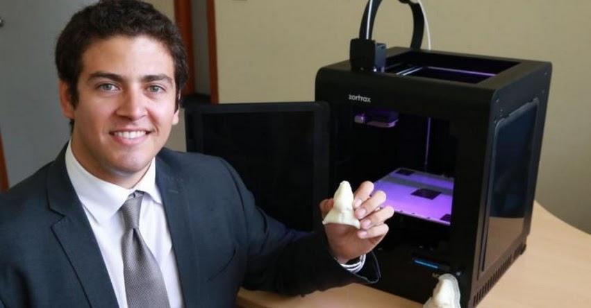 Peruano creador del método que produce prótesis faciales 3D, es premiada por el MIT de Estados Unidos