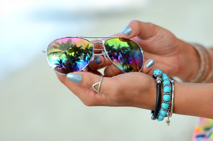 Rainbow aviators, Turqoise jewelry