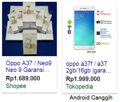 Harga Oppo a37f