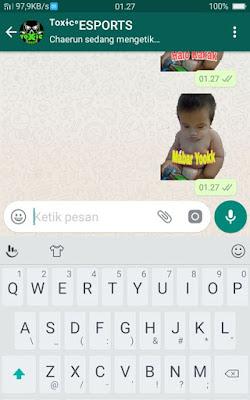 Stiker WhatsApp Pakai Foto Sendiri