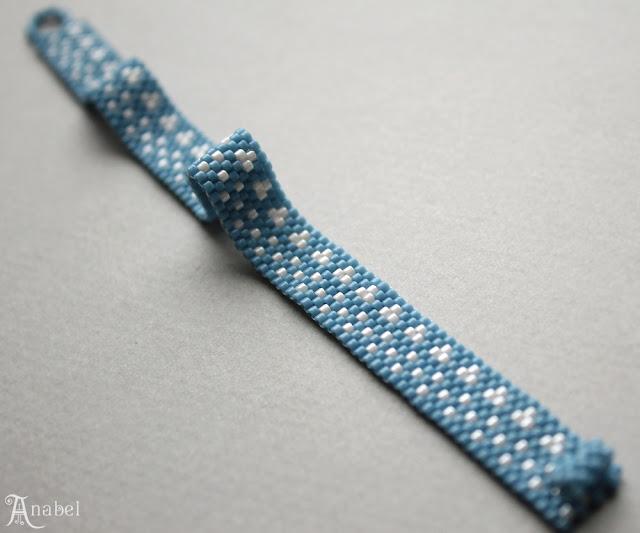 купить браслеты в стиле минимализм голубой браслет ручной работы