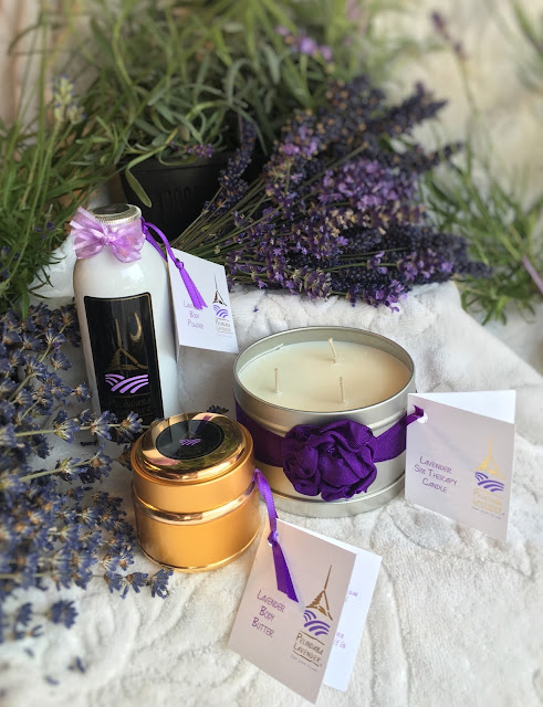 Lavender Body Products made by Pelindaba Lavender with organic lavender essential oil