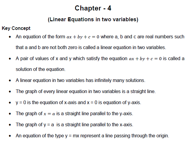 linear equation in two variables,class 9 ,maths, value of x,value of y,graph,straight line,