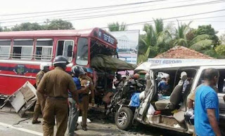 van collision in Jaffna