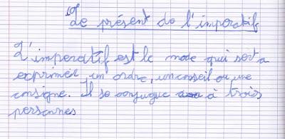 écriture élève CM