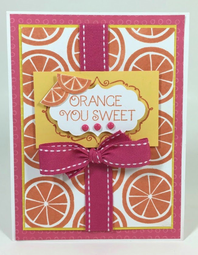 Cricut Orange You Sweet card