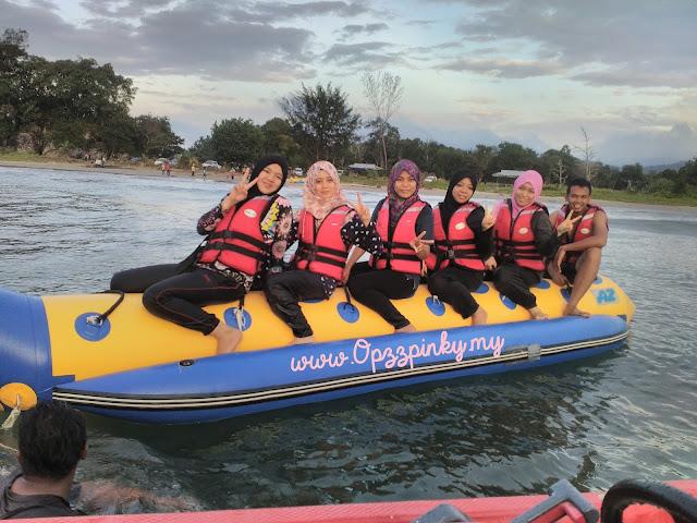 Pertama Kali Naik Banana Boat Spitang, Sabah
